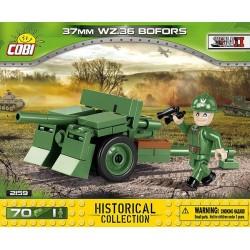 2159 COBI SMALL ARMY 37 MM WZ.36 BOFORS SZWEDZKA ARMATA