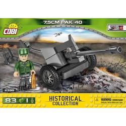 2398 COBI SMALL ARMY WWII 7,5CM PACK 40 NIEMIECKA ARMATA