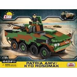 2616 COBI SMALL ARMY PATRIA AMV/KTO ROSOMAK KOŁOWY TRANSPORTER OPANCERZONY