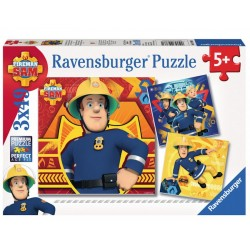 093861 PUZZLE RAVENSBURGER STRAŻAK SAM 3X49