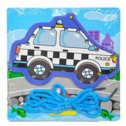 811860 UKŁADANKA SZNUROWANKA NAWLEKANKA POLICJA