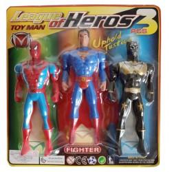 167910 FIGURKA SUPERBOHATER BATMAN SPIDER-MAN SUPERMAN