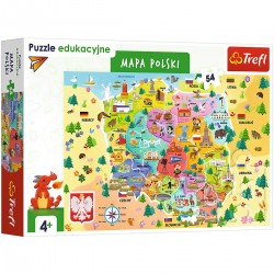 15556 TREFL TREFL PUZZLE 54 EL. MAPA POLSKI